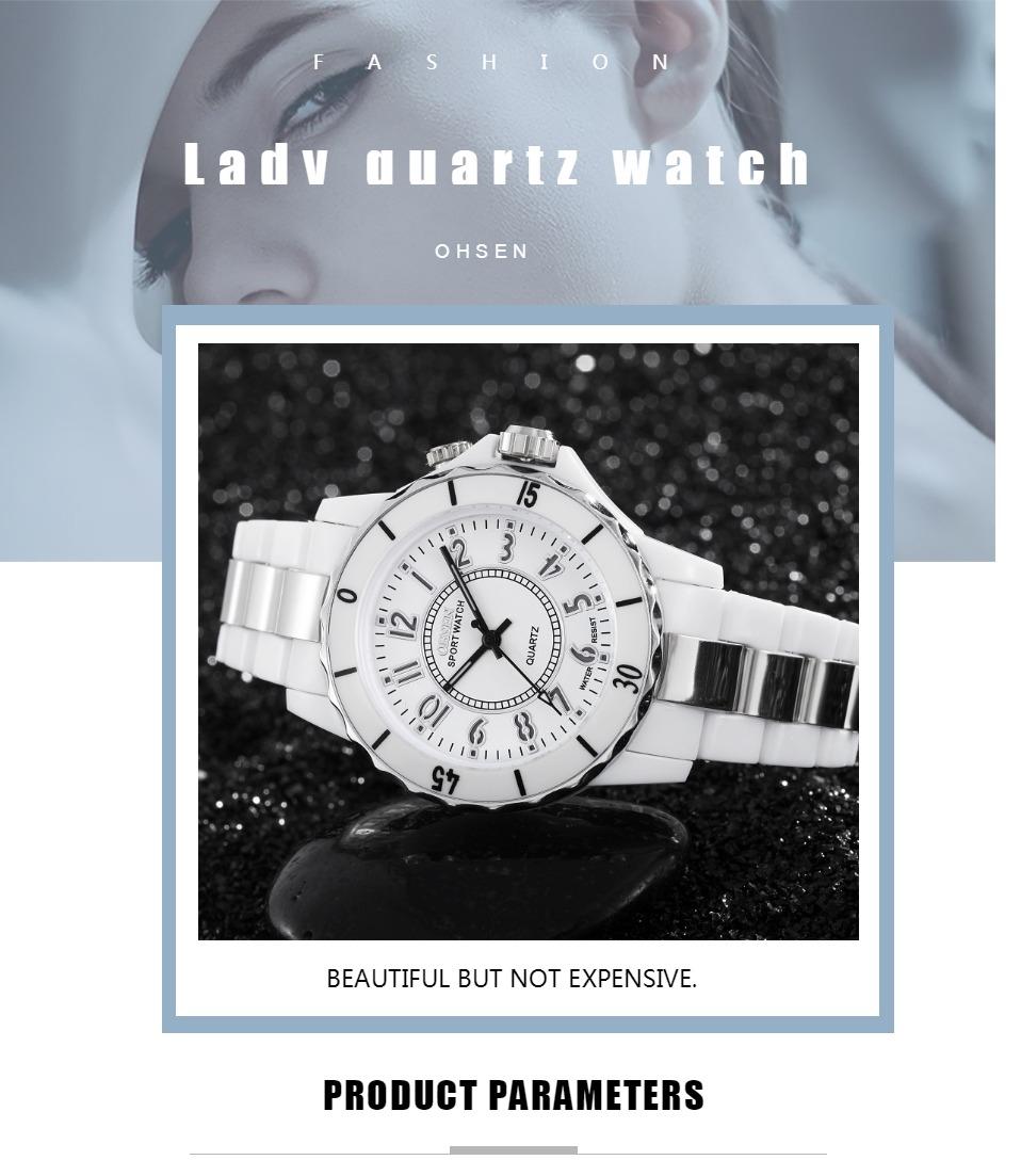 FG0736 White 7 Colors Women Sports Watch OHSEN Brand - OHSEN 17