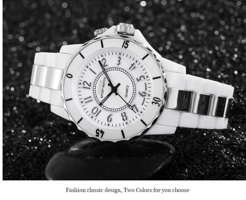 FG0736 White 7 Colors Women Sports Watch OHSEN Brand - OHSEN 14