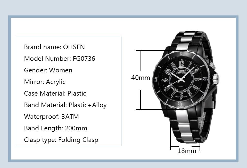 FG0736 Black 7 Colors Men Sport Watches OHSEN Brand - OHSEN 13