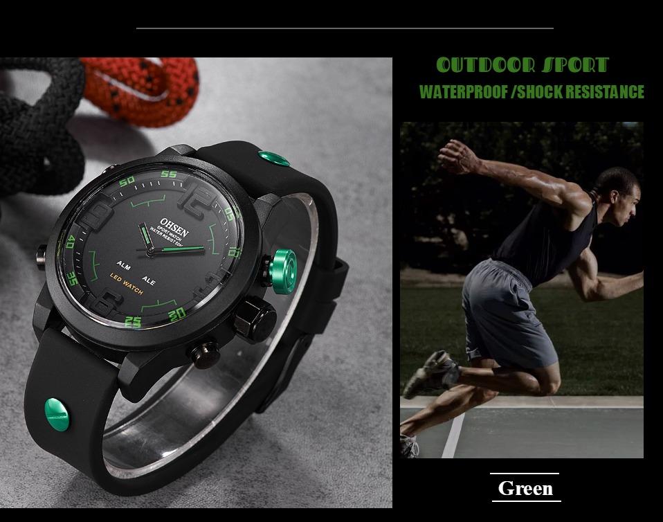 AD2820 Black Men Sport Watch Daul Display Watch OHSEN Brand - OHSEN 11