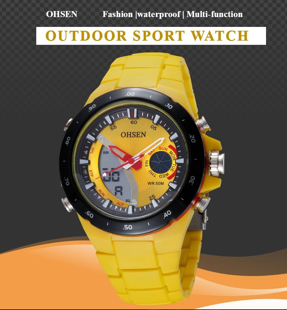 AD2802-Yellow Lady Watch Digital Women Sport Watch Wholesale  OHSEN Brand - OHSEN 22