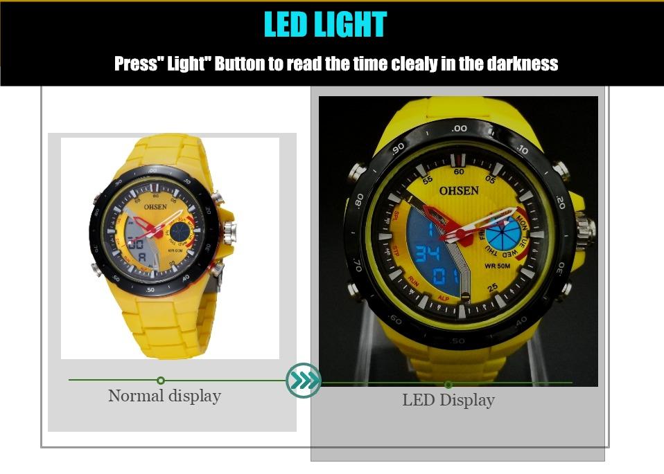 AD2802-Yellow Lady Watch Digital Women Sport Watch Wholesale  OHSEN Brand - OHSEN 21