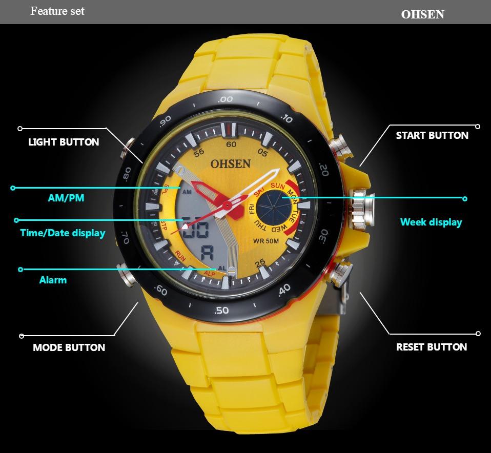 AD2802-Yellow Lady Watch Digital Women Sport Watch Wholesale  OHSEN Brand - OHSEN 16