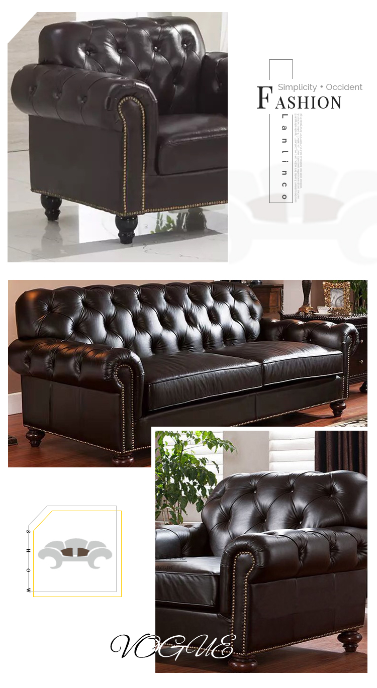Reception 3 2 Seater Black Couches Indoor Sectional Furniture Luxury Leather Sofa Set Three - Pinzheng Furniture-1 7