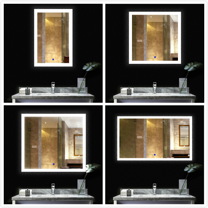 American style 1200mm 900mm 600mm colour changing led bathroom modern makeup mirror 9