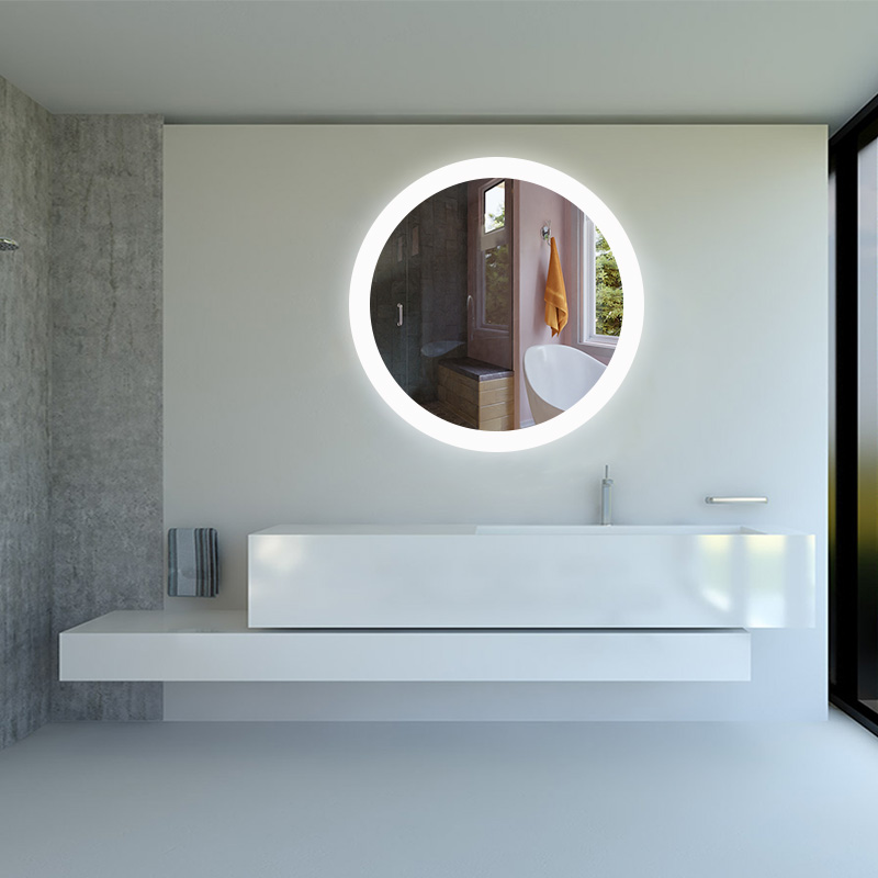 New Style Round LED Mirror with Antifog Backlit Wall Mirror with LED Lights for Bathroom 9