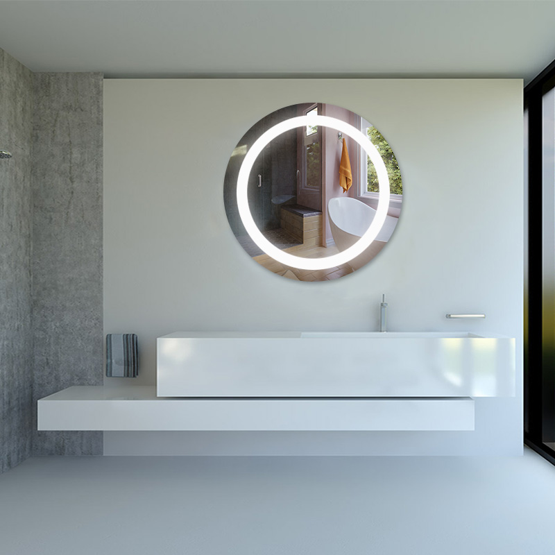 New Style Round LED Mirror with Antifog Backlit Wall Mirror with LED Lights for Bathroom 11
