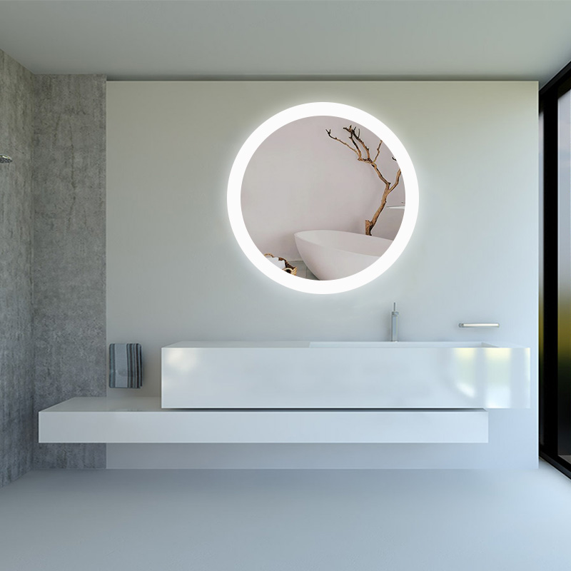 New Style Round LED Mirror with Antifog Backlit Wall Mirror with LED Lights for Bathroom 10