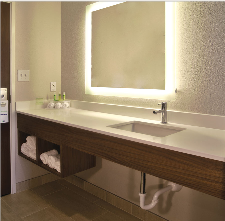 Rectangle Lighted Frameless Backlit Wall Mounted LED Mirror 8