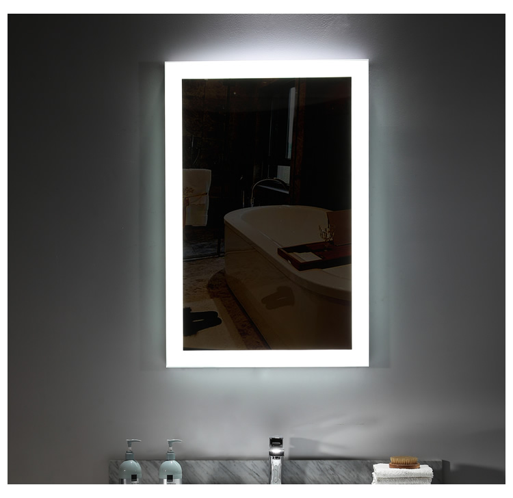 Bright Good Lighting Rectangle Lighted  Light Up Mirror with Lights - Pinzheng Furniture 10