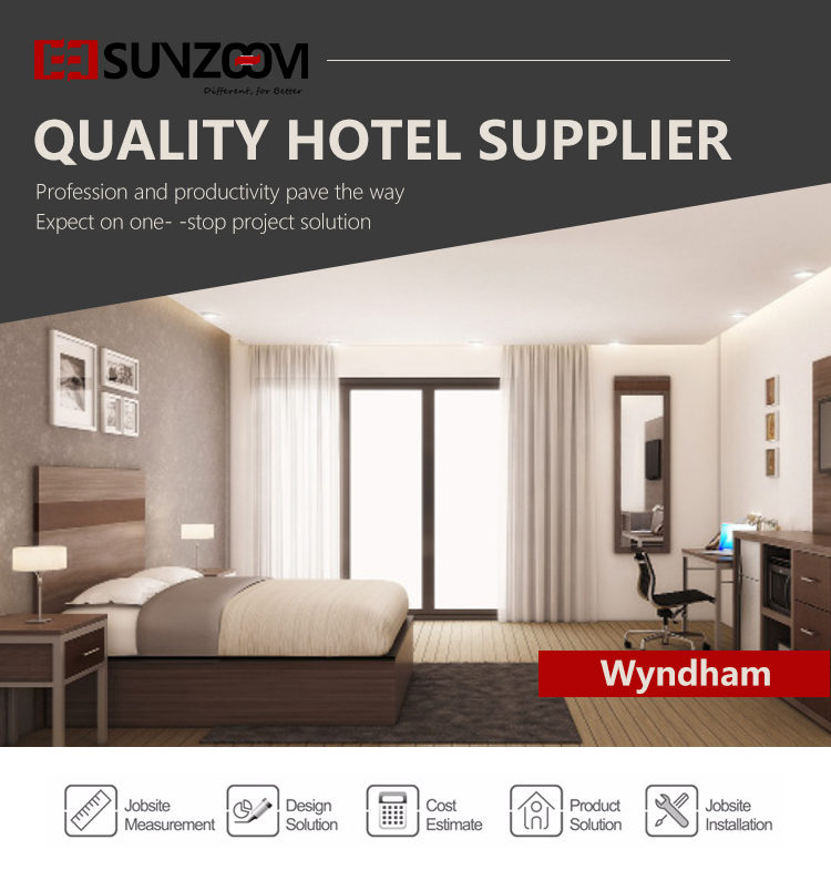 wyndham hotel furniture wood material Hotel bedroom furniture 7