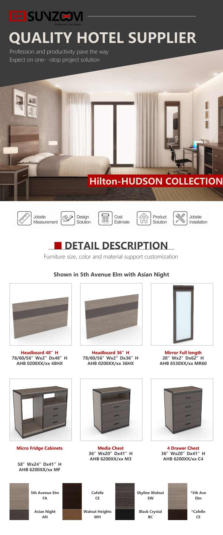 1.High Quality Custom Made Hotel Furniture Hilton garden inn furniture 10
