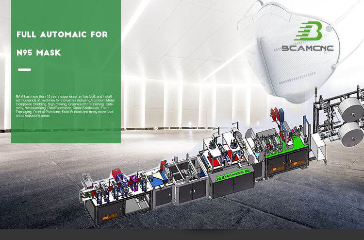 Fold flat butterfly shape N95 face mask machine  production line 7