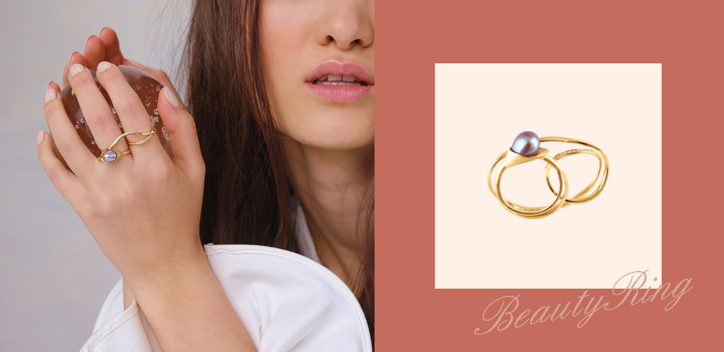 The Finger Ring and Pearl Ring Set - Silvergld jewelry 5
