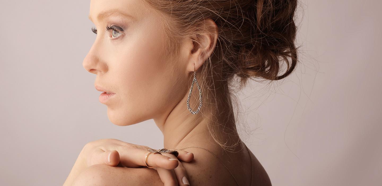 Graded Link Earrings - Silvergld jewelry 4
