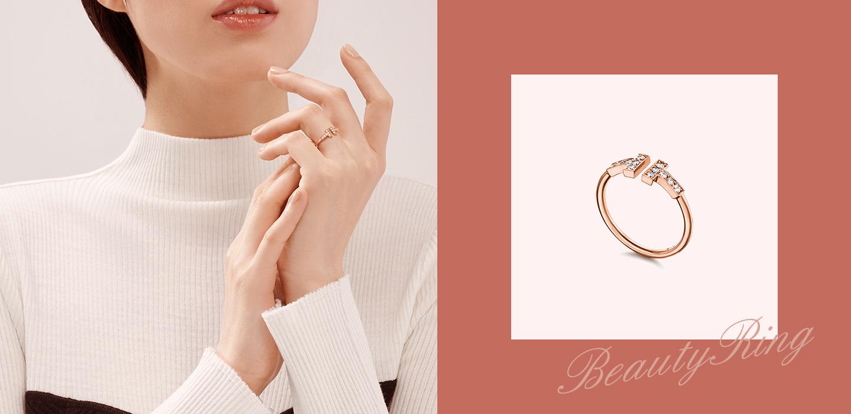 Double Spring Set Diamond Ring - Silvergld jewelry 5