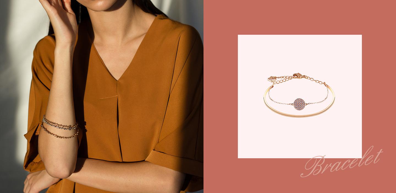 18k Rose Gold Round Bright Cut Diamond - Silvergld jewelry 5