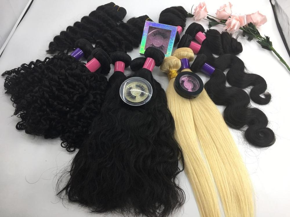 Free sample  bundle 10 A Weaving Hair Weave Raw Virgin Mink Brazilian Hair Extensions Accept Paypal 8