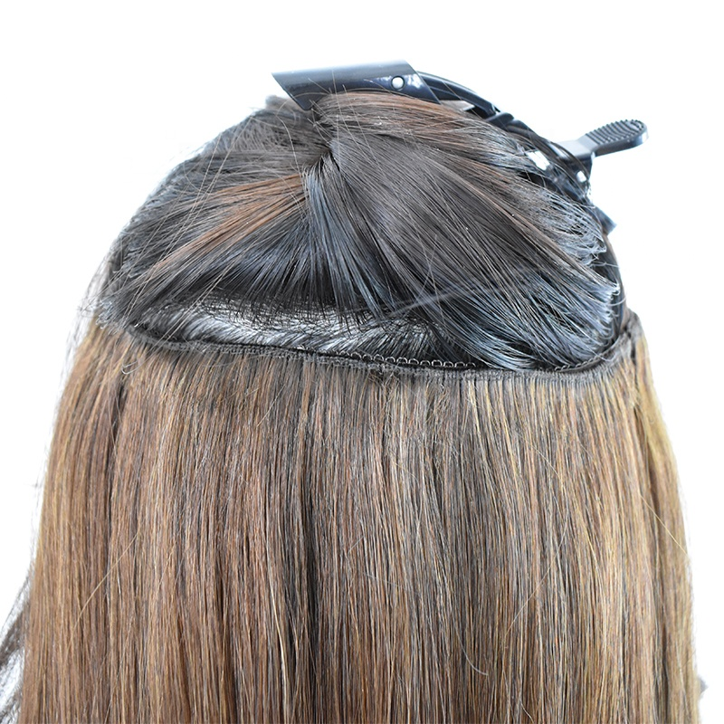 2020 New Arrival Top Best Quality Hot Selling Super Double Drawn Thick Ends Remy Clip In Hair Extension 13