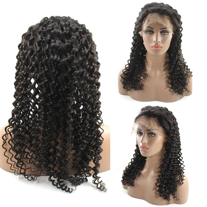 Black Friday Sales Wholesale Cheap Pre Plucked Thick Ends Virgin Cuticle Aligned Frontal Lace Used Curly Human Hair Wigs 13