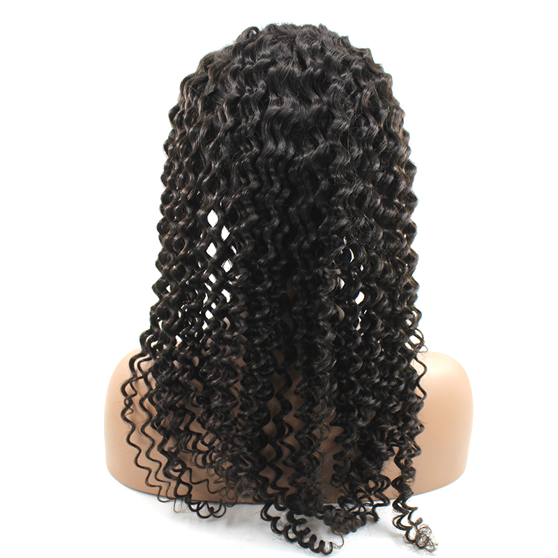 Black Friday Sales Wholesale Cheap Pre Plucked Thick Ends Virgin Cuticle Aligned Frontal Lace Used Curly Human Hair Wigs 15
