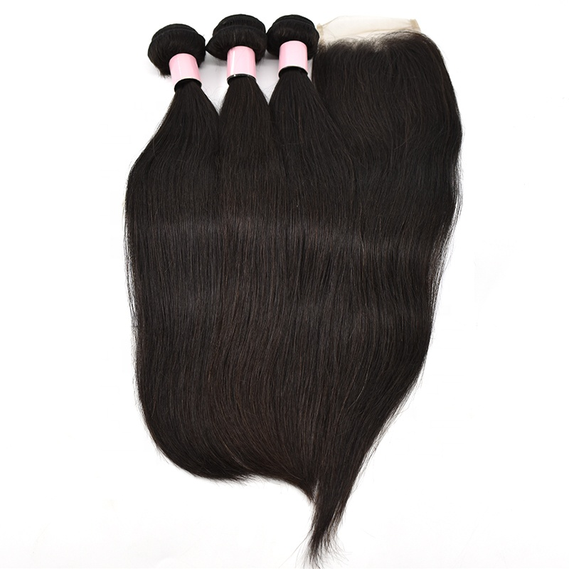 2020 Sales Free Shipping Wholesale Virgin Human Hair Extensions  With Closure 10