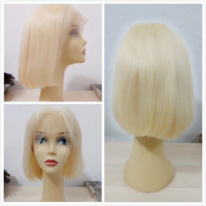 Wholesale Price Pre plucked Virgin Cuticle Aligned Cambodian Curly Human Hair Full Lace Wig 14