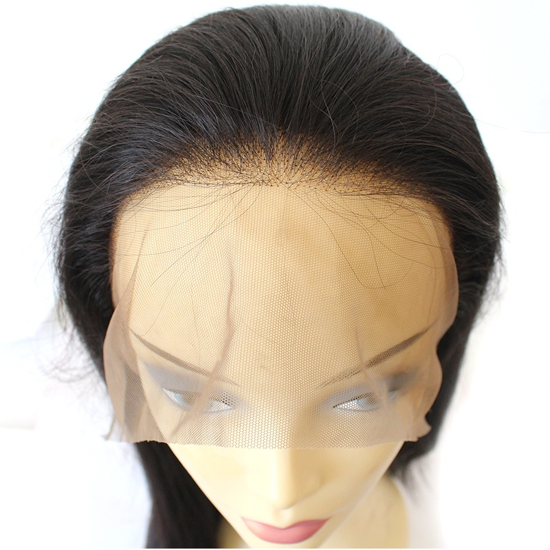 Wholesale Straight Full Lace wigs virgin Brazilian 100% human hair wig 11