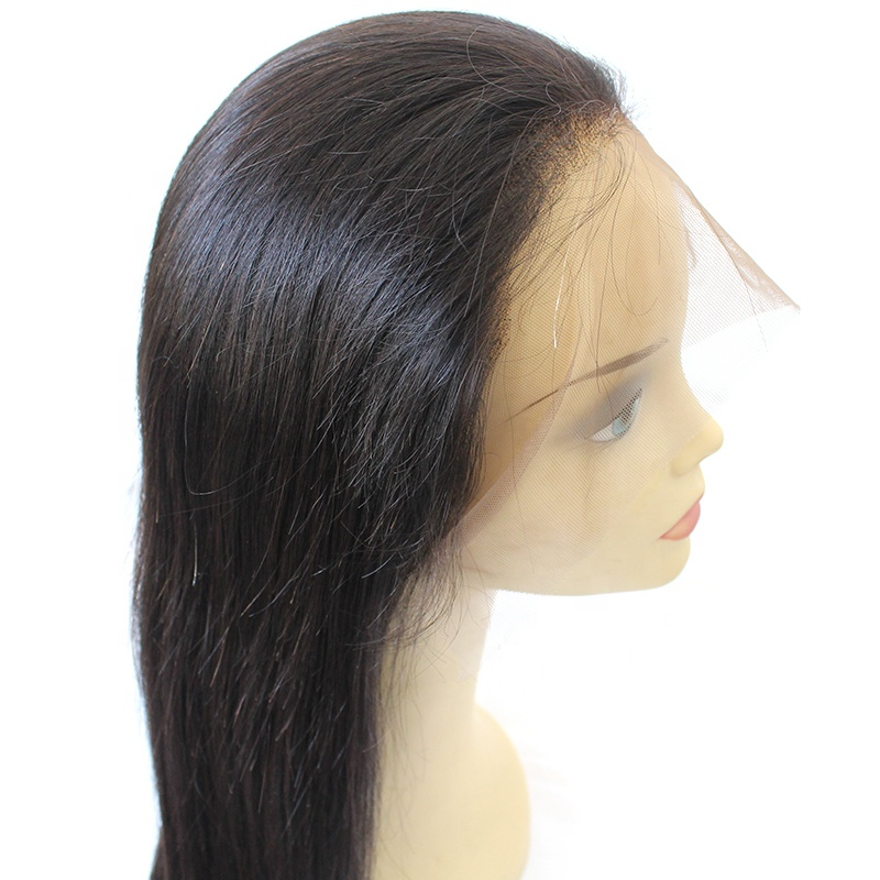 Wholesale Straight Full Lace wigs virgin Brazilian 100% human hair wig 12