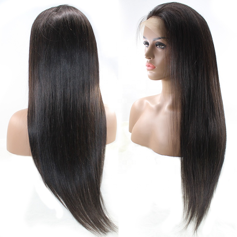 Free shipping transparent lace frontal wig 150% dendity Thick ends Unprocessed hair Straight /body wave /deep wave 9