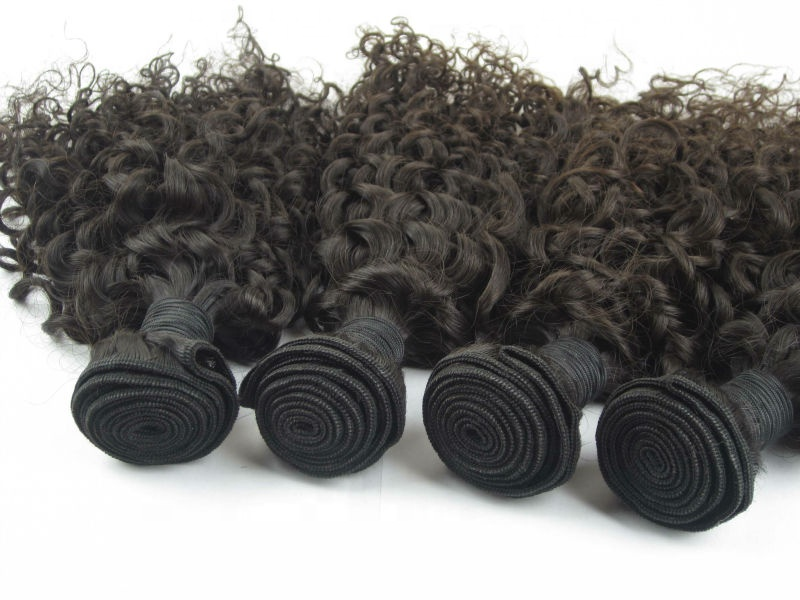 China factory unprocessed wholesale 100% Indian human hair virgin curly hair bundles 11