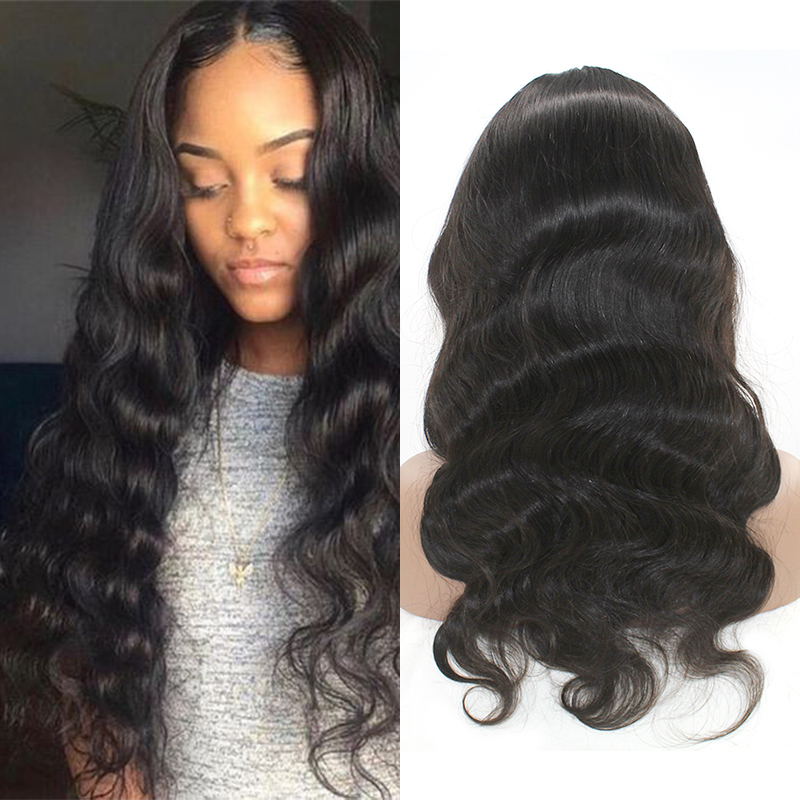 Free Shipping Body Wave HD Swiss Full Lace Wig /360 Lace Wig /HD Lace Wig Brazilian Virgin Human Hair Wig 14