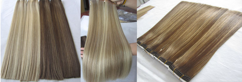 Russian Hair Supplier Double Drawn Virgin Cuticle Aligned Flat Hair Weft 24