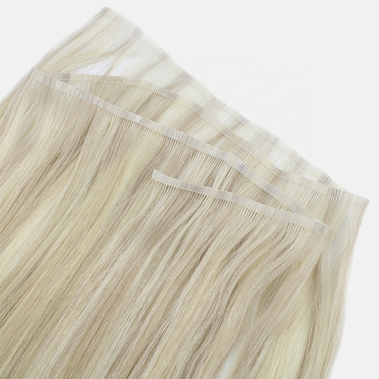 Russian Hair Supplier Double Drawn Virgin Cuticle Aligned Flat Hair Weft 10