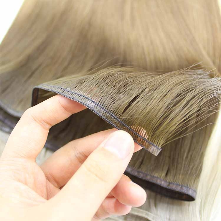 Russian Hair Supplier Double Drawn Virgin Cuticle Aligned Flat Hair Weft 9