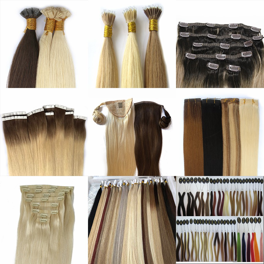 Wholesale Hair Balayage  Double Drawn Hair Pre-Bonded Fan Tip Hair Extension 13