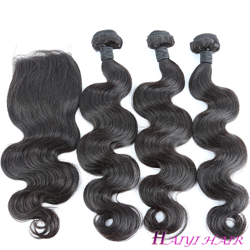 Unprocessed Human Hair Cambodian Hair Body Wave Cuticle Aligned 10A Grade Virgin Hair Bundle 9
