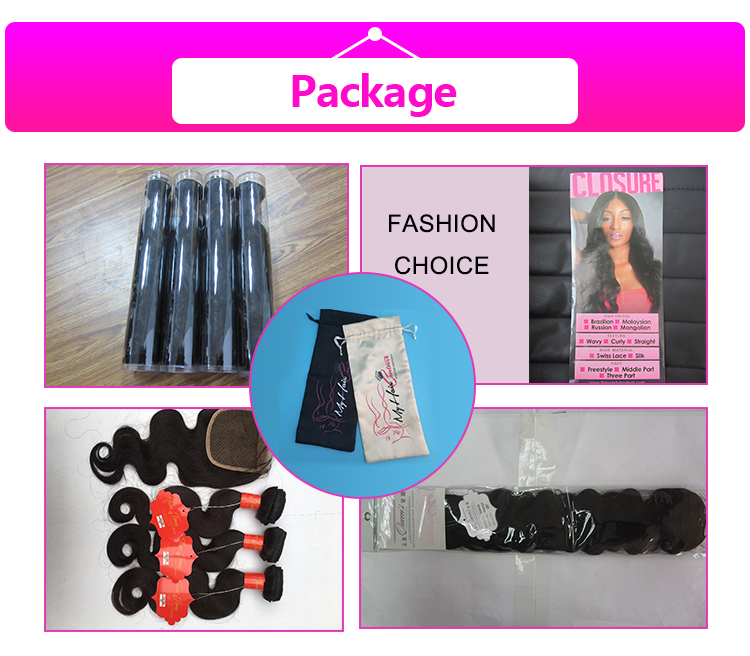 100% Human hair extension body wave bundle  mink Brazilian virgin remy  hair cuticle aligned weft 16