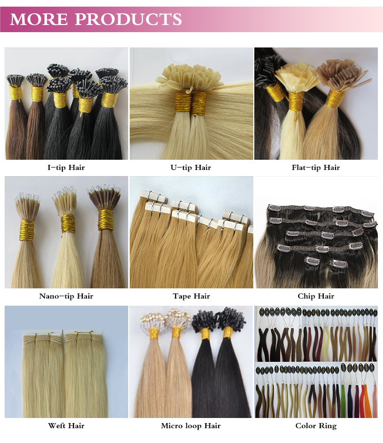 Wholesale Best Quality Double Drawn Remy I Tip Hair Russian Hair Extension 10