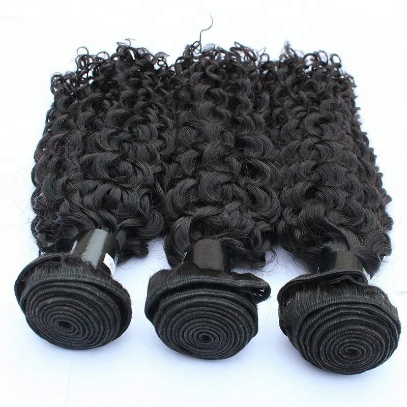 1 Bundle Hair Weft Extensions 100g Factory Wholesale Curly Weaving 10-30 Inch Raw Human Hair 11