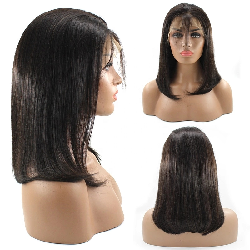 Wholesale Price Pre plucked Virgin Cuticle Aligned Cambodian Body Wave Human Hair Lace Front Wig 8