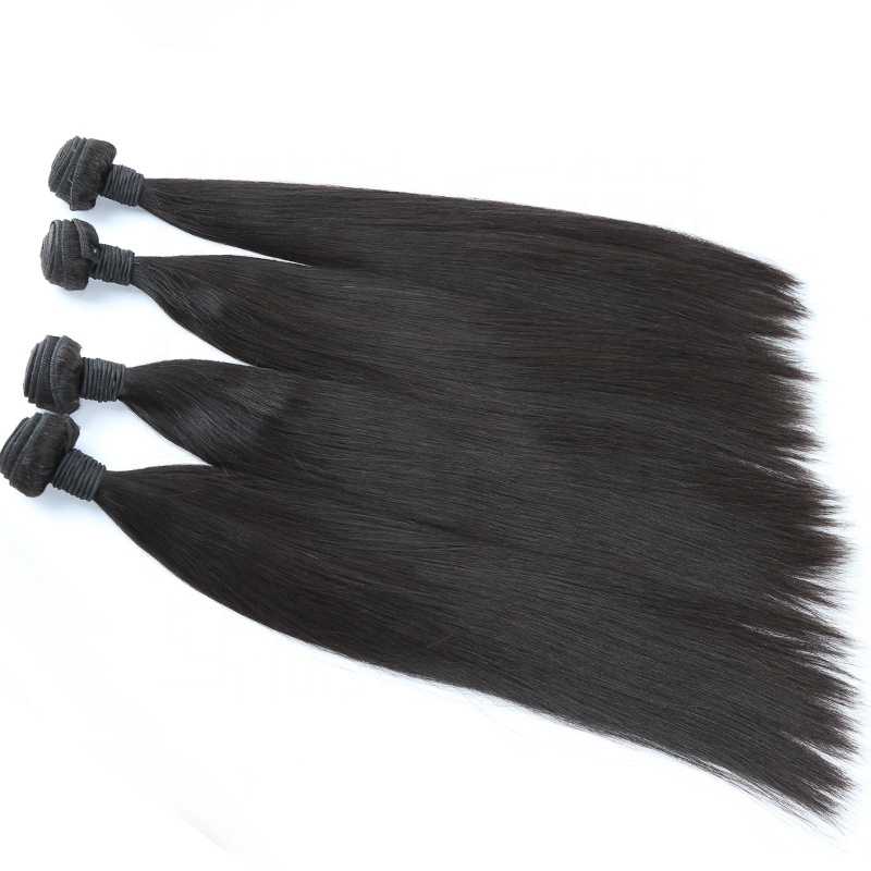 100% Human Hair No Tangle No Shedding Straight Bundle For Black Women Overnight Shipping 16