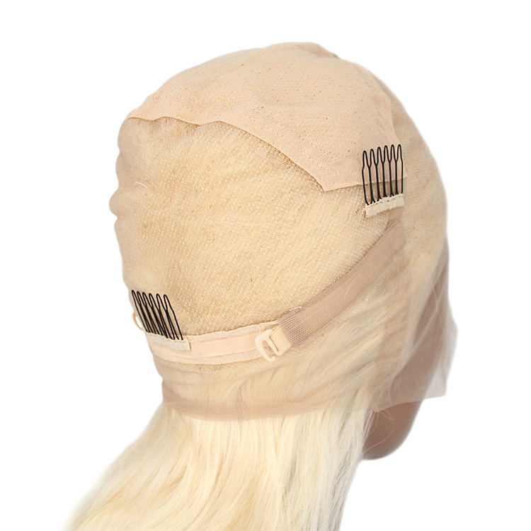 Wholesale 613 blonde HD lace wig factory price peruvian human hair HD lace frontal hair wigs 10