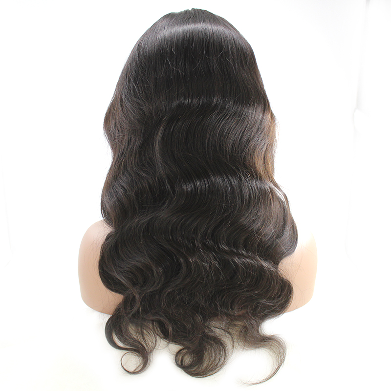 pre plucked transparent cuticle aligned brazilian hair Body Wave Lace wig 8