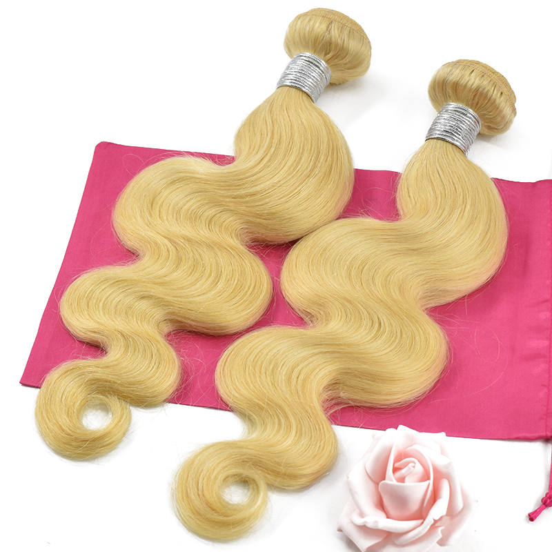 Raw Peruvian Body Wave Virgin 100% Human Hair Weaving Unprocessed Cuticle Aligned Blonde 613 Hair Bundles 11