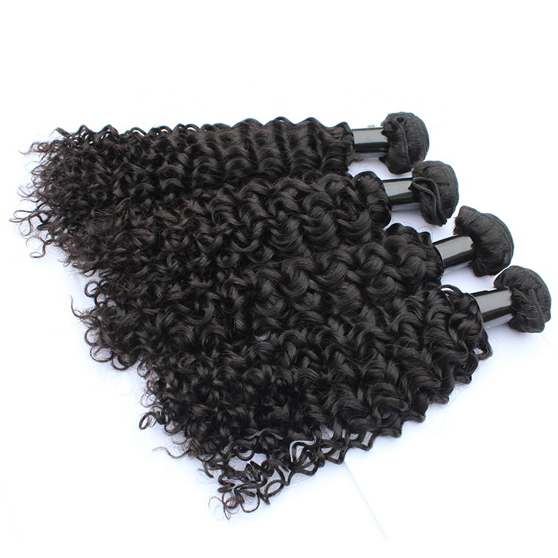 100% Human Remy Raw Hair Extensions 2020 Double Weft Bundle Curly Weaving 10-30 inch 8
