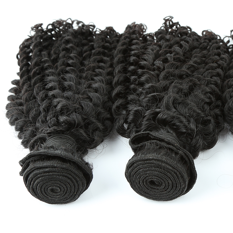 Wholesale 100% Mongolian Brazilian kinky curly human hair bundles Haiyi hair 12