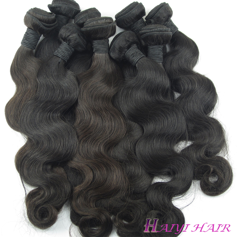 Brazilian Natural Color Bundles Human Hair Extensions Cuticle Aligned Remy Hair Body Wave 11
