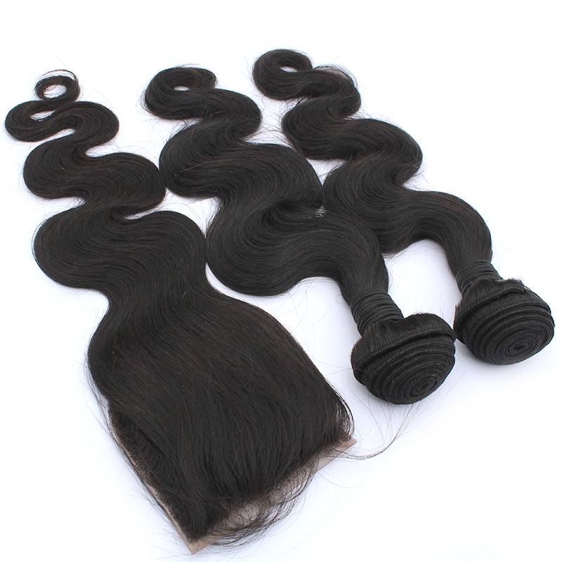 2020 Double Weft Hair Extensions In Raw Brazilian Bundles Factory Wholesale  Body Wave Straight Hair 10-30 inch 10