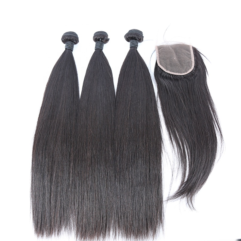 100%  Mink Cuticle Aligned Raw Brazilian Virgin Straight Hair Bundles 10A Woman Human Hair Extensions 9